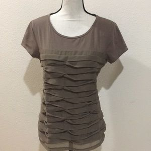 ANN TAYLOR Top with Flat Pleats - Never Worn